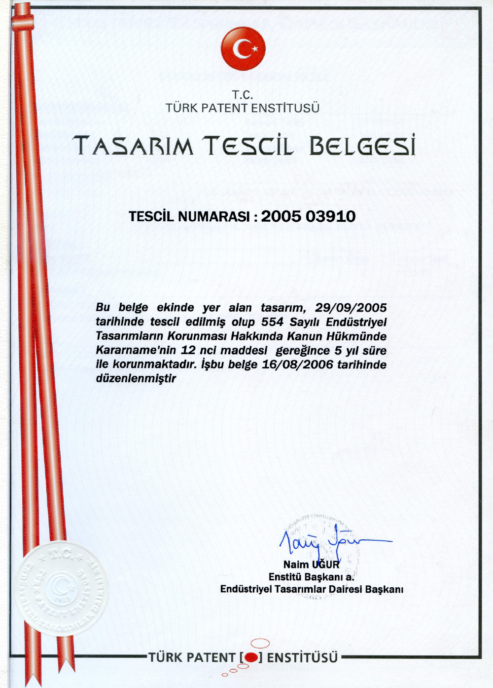 Design Registration Certificate