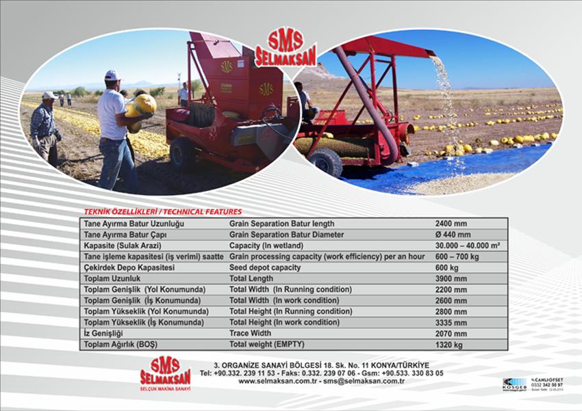 Машина Выделения Семян Тыквы с Емкостью для Семян D.P 2400_detail_1