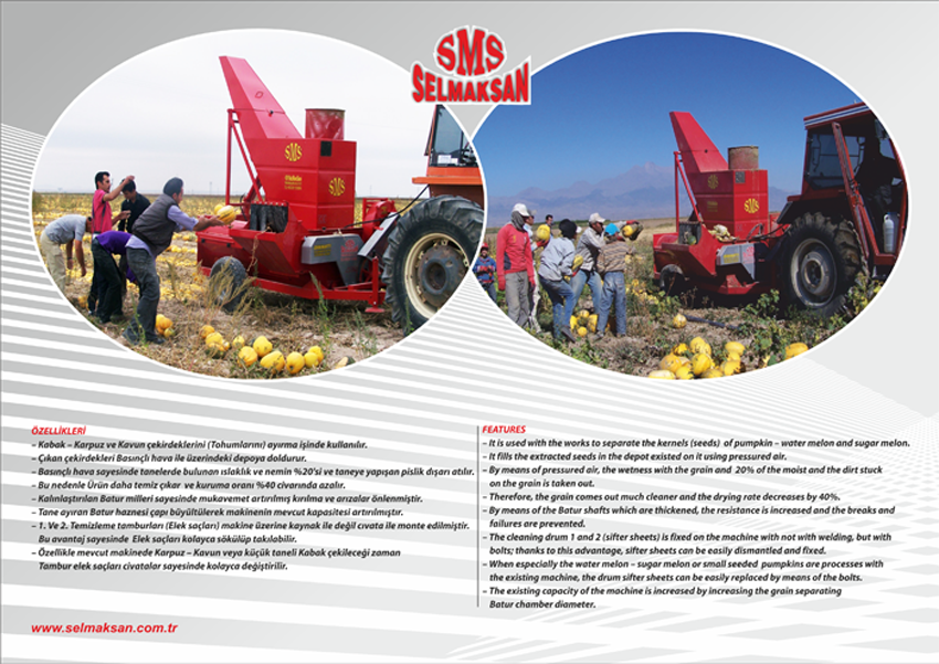 Машина Выделения Семян Тыквы с Емкостью для Семян D.P 2400_detail_3