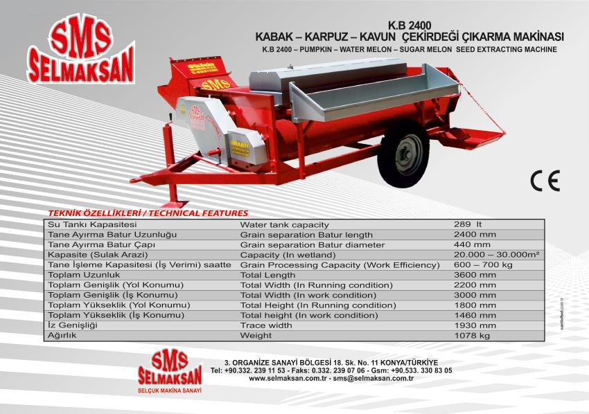 K.B 2400-Kabak Karpuz Kavun Çekirdeği Çıkarma Makinesi - Yıkamalı_detail_1