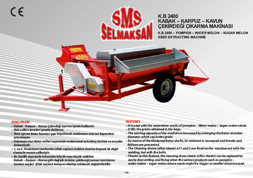 K.B 2400-Pumpkin, Water melon, Melon Seed Extracting Machines - Washable_detail_0